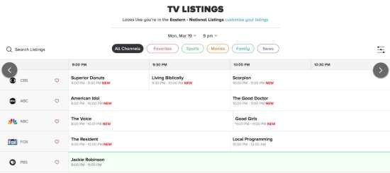 Jadwal-TV-USA